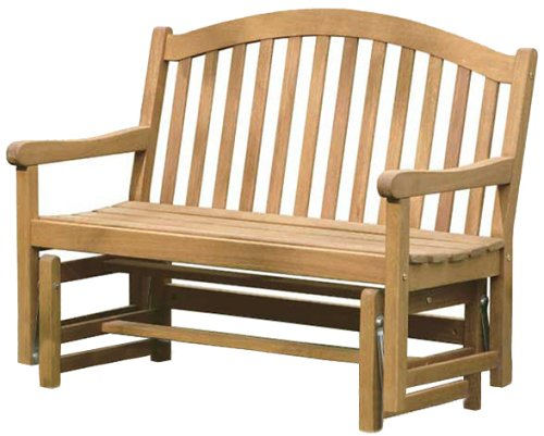 Wood Glider Bench Images