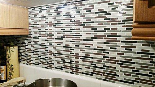 FANCY - Effetto mosaico,28,29 x 23,49 cm, adesivi per piastrelle ...