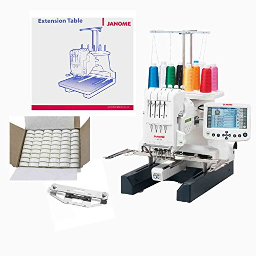 Janome MB-4S Four Needle Embroidery Machine with Exclusive Bonus Bundle (Janome Monogram compare prices)