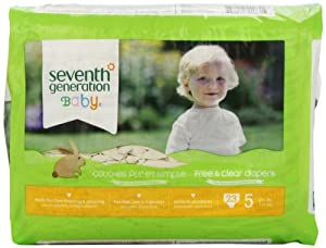 Seventh Generation Free and Clear Baby Diapers, Size 5