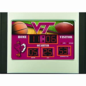 Virginia Tech Hokies Scoreboard Desk Clock by Team Sports America