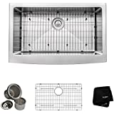 Kraus KHF200-33 33 inch Farmhouse Apron Single Bowl 16 gauge Stainless Steel Kitchen Sink