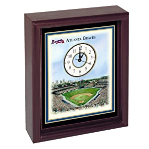 Atlanta Braves Turner Field Stadium Colorprint Desk Clock by Unknown