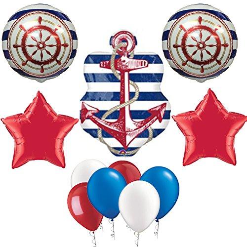 Anchor birthday party balloon decoration kit arts for Anchor balloon decoration