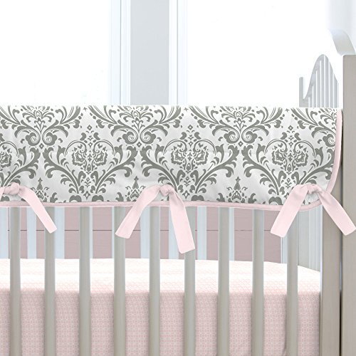 Carousel-Designs-Pink-and-Gray-Traditions-Crib-Rail-Cover
