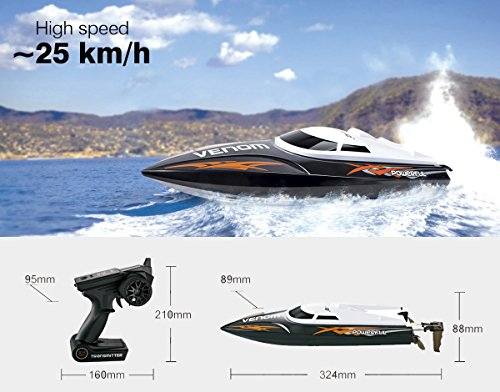 UDI001-RC-Boot-Rennboot-Speedboot-High-Speed-Remote-Control-24-GHz-High-ferngesteuert-racing-Schiff-Original-UDI-RTR