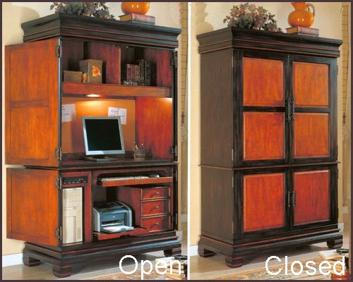 Buy Low Price Comfortable Computer Armoire CO-800741 (B002ALO56W)