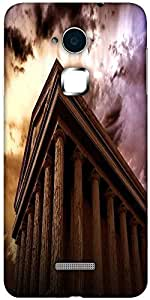 Snoogg ancient temple Designer Protective Back Case Cover For Coolpad Note 3 (White, 16GB)