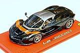 BBR (P1867BLKRED) 1/18 フェラーリ ラ・フェラーリ グロスブラック/レッドストライプ ディスプレイケース付
