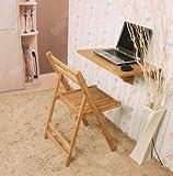 SoBuy Wandklapptisch, Klapptisch, Tisch, Küchentisch, Kindermöbel aus Bambus, FWT031-N, 60x40cm, Farbe: Bambus Natur