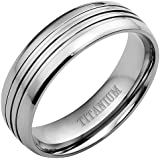 New Mens Titanium Ring 8mm Wide Brand New Available in Most Sizes Click Through to see other Sizes Comes in a Quality Velvet Gift Box