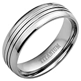 New Mens Titanium Ring 8mm Wide Brand New Available in Most Sizes This is Size Q Click Through to see other Sizes Comes in a Quality Velvet Gift Box Size Q