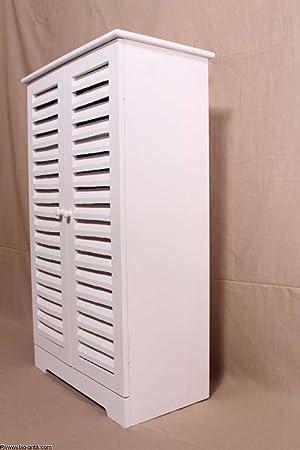 Piso Armario baño armario estantería armario con puertas estilo rústico Armario auxiliar libros