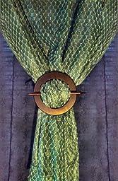 Wood Tieback Drape Binds - Set of 4