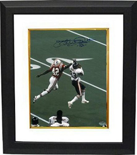 Autographed Gault Picture - 8X10 Custom Framed Vs Patriots Super Bowl Xx) - Autographed Nfl Photos