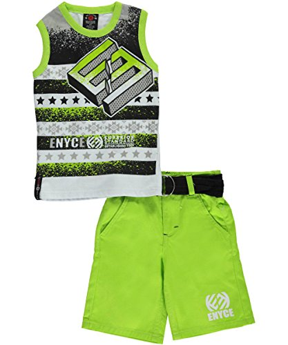 "Enyce Little Boys' Toddler ""Superior Standard"" 2-Piece Outfit - lime, 3t"