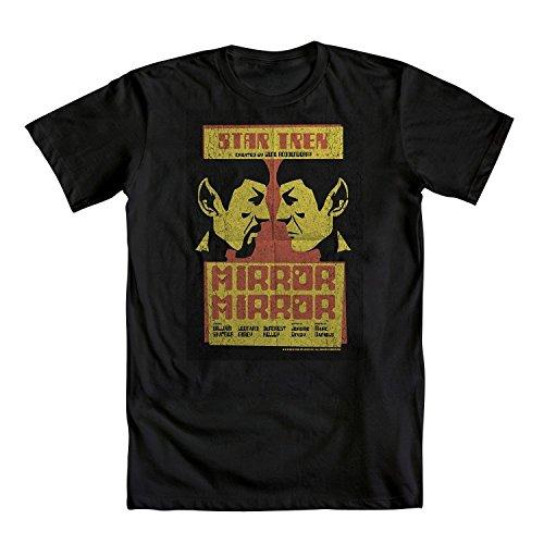 Star Trek Spock Mirror Mirror Mens Black T-Shirt | XL