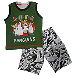 NammaBaby Sleeveless T-Shirt and Jeans Nekar Shorts Set (2-3 Years)