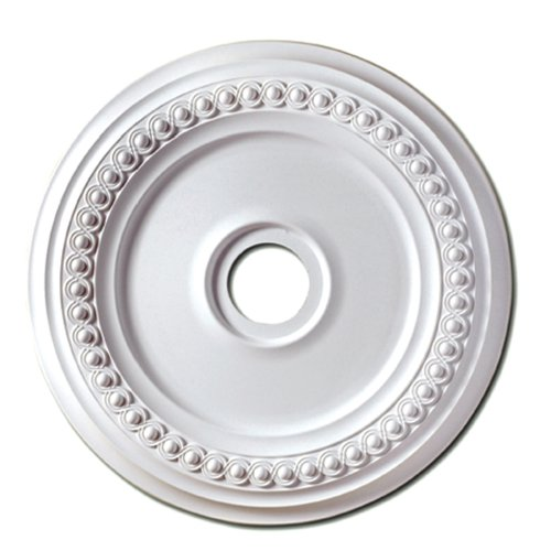Focal Point 83224 24-Inch Rondel Medallion 24 3/8-Inch by 24 3/8-Inch by 1 5/8-Inch, Primed White