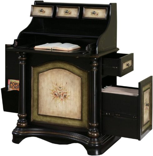 Powell Masterpiece &quot;Antique Black&quot; Rub-Through Vineyard Desk
