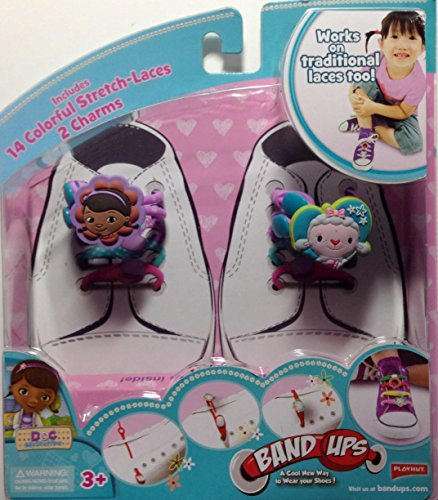Band-Ups Doc McStuffins Shoe Lace Set - 14 Colorful Stretch Laces with 2 Charms