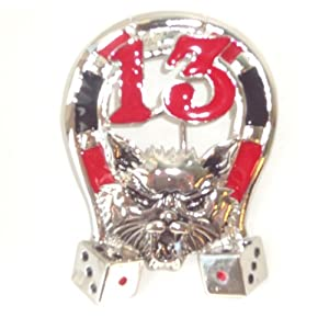 Lucky 13 Horseshoe Belt Buckle for Poker Player Gambling Gifts