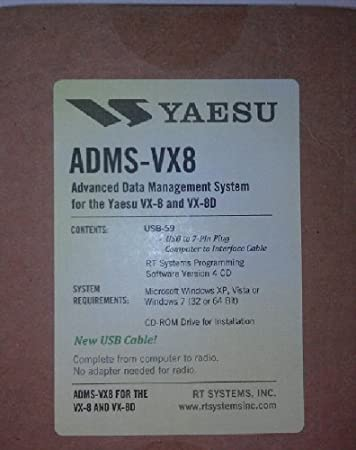 Yaesu VX-8DR Programming Software & USB Cable Set! ADMS-VX8