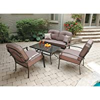 Mainstays Wentworth 4-Piece Patio Conversation Set, Seats 4 by Mainstays
