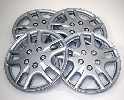 TuningPros WSC-523S14 Hubcaps Wheel Skin Cover 14-Inches Silver Set of 4