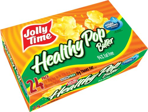 Jolly Time Healthy Pop Butter 94% Fat Free Weight Watchers Microwave Popcorn, Bulk 24-Count Box (Popcorn Jolly Time compare prices)