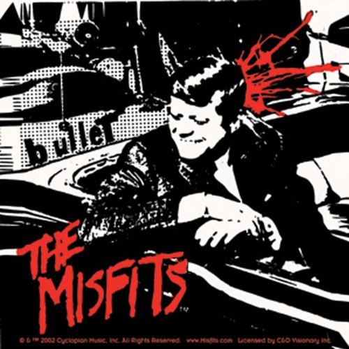 The Misfits Kennedy Bullet Square Sticker (Misfits Bullet Vinyl compare prices)