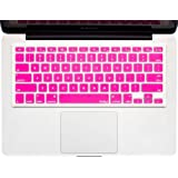 """Kuzy - PINK Keyboard Cover Silicone Skin for MacBook Pro 13"""" 15"""" 17"""" (with or w/out Retina Display) iMac and MacBook Air 13"""" - Pink"""