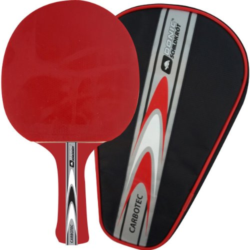 Donic Schildkröt Tischtennis-Schläger Carbotec 30 red konkav