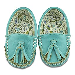 Caribbean Cuties Leather and Fabric Lined Moccasins (12-18 Months)