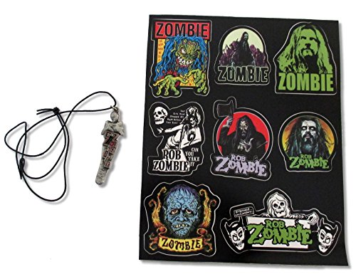 "Rob Zombie 2-Piece Set: 8""x10"" Sticker Sheet + Mummy Necklace"