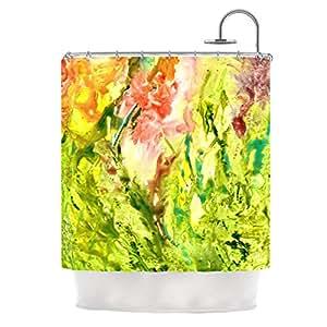 "Amazon.com: Kess InHouse Rosie Brown ""Green Thumb"" Shower Curtain, 69"