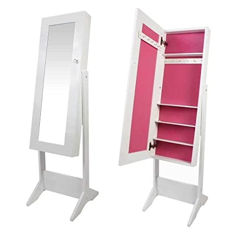 Generic QY-UK4-16FEB-20-1166 *1**2982** Jewellery Cabinet Free St Standing Bedroom Large F Large Free Bedroom Color:Random :Random Organizer with Mirror rror Color:Random