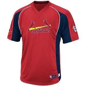 MLB St. Louis Cardinals Mens True Winner Crew Polo, Red Navy by VF LSG
