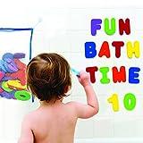 Badespielzeug - Bade Buchstaben und Zahlen mit Badezimmer Spielzeug Organizer. Das Beste Lehrreiche Badespielzeug mit Hochwertigem Badezimmer Spielzeug Organizer und Ungiftigen BPA-freuen Schaumstoff Buchstaben. Das Perfekte Geschenk! hergestellt von Bril