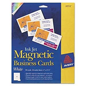 Amazon Magnetic Business Cards 2 x 3 1 2 White 10