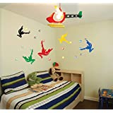 Oren Empower Football Stars Wall Stickers For Football Fans (Finished Size On Wall - 140(w) Cm X 80(h) Cm)