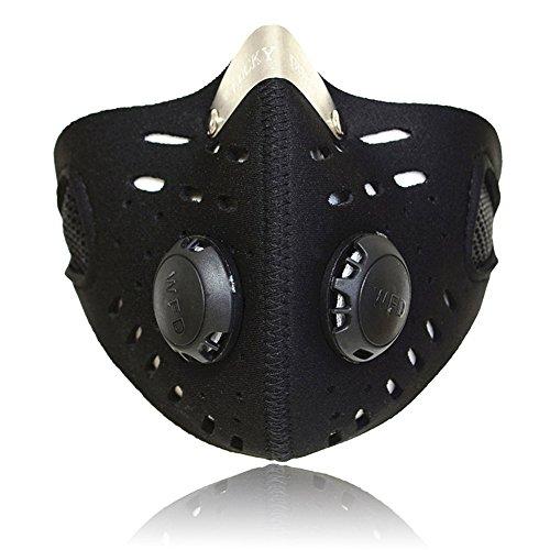 Lixada Sport Outdoor Maschera Filtro aria di sostanze inquinanti per la guida della bicicletta Viaggiare Attività all'aria aperta di protezione universale passamontagna