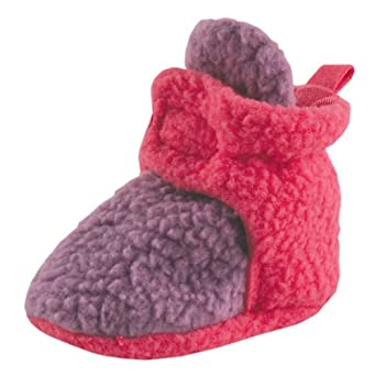 Scooties Fleece Booties by Luvable Friends, Purple Newborn
