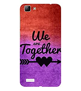 ifasho We are together Back Case Cover for VIVO Y53