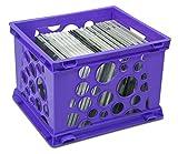 Storex Mini Crate, 9 x 7.75 x 6 Inches, Neon Purple, Case of 24 (STX61585U24C)