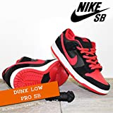 NIKE(ナイキ) ダンク ロー プロ DUNK LOW PRO SB Black/University Red-Black/メンズ(men's) 靴 スニーカー (304292-039)