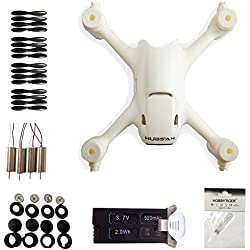 HOBBYTIGER Hubsan X4 H107C+ Plus Replace Spare Parts Crash Pack Kit Battery Motor Prop Body Shell