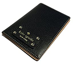Kate Spade Wellesley Black Leather Passport Holder Case WLRU1236