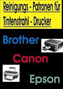 AC - !!! Reinigungspatronen !!! 4 kompatible Patronen ( 1x bk, cy,ma,ye ) mit Reinigungsflüssigkeit für diese Brother-Drucker:Brother DCP-145C ; DCP-165C ; DCP-185C ;DCP 385C ; DCP-535CN ; DCP-585CW ;DCP-6690CW Brother MFC-250C ; MFC-290C ; MFC-490CN ; MFC-670CD ; MFC-790CW ; MFC-990CW ; MFC-5490CN ;MFC-5890CN ; MFC-930CDNW ; MFC-6490W ; MFC-6890CW