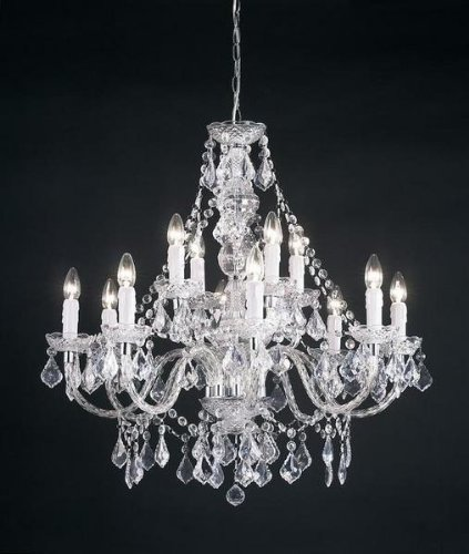 Twelve Light Chandelier in Clear Acrylic